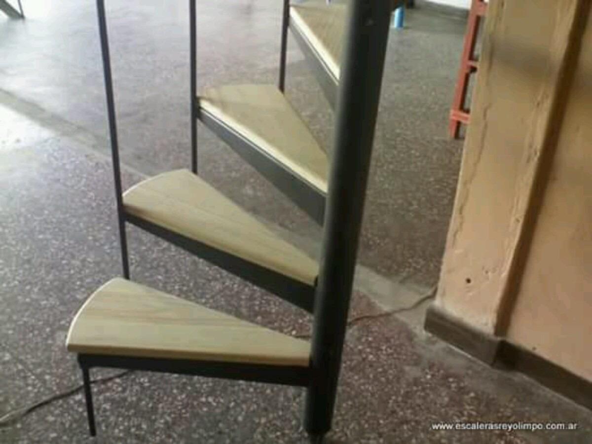 Escalera caracol de madera with escalera caracol de for Como hacer una escalera caracol metalica