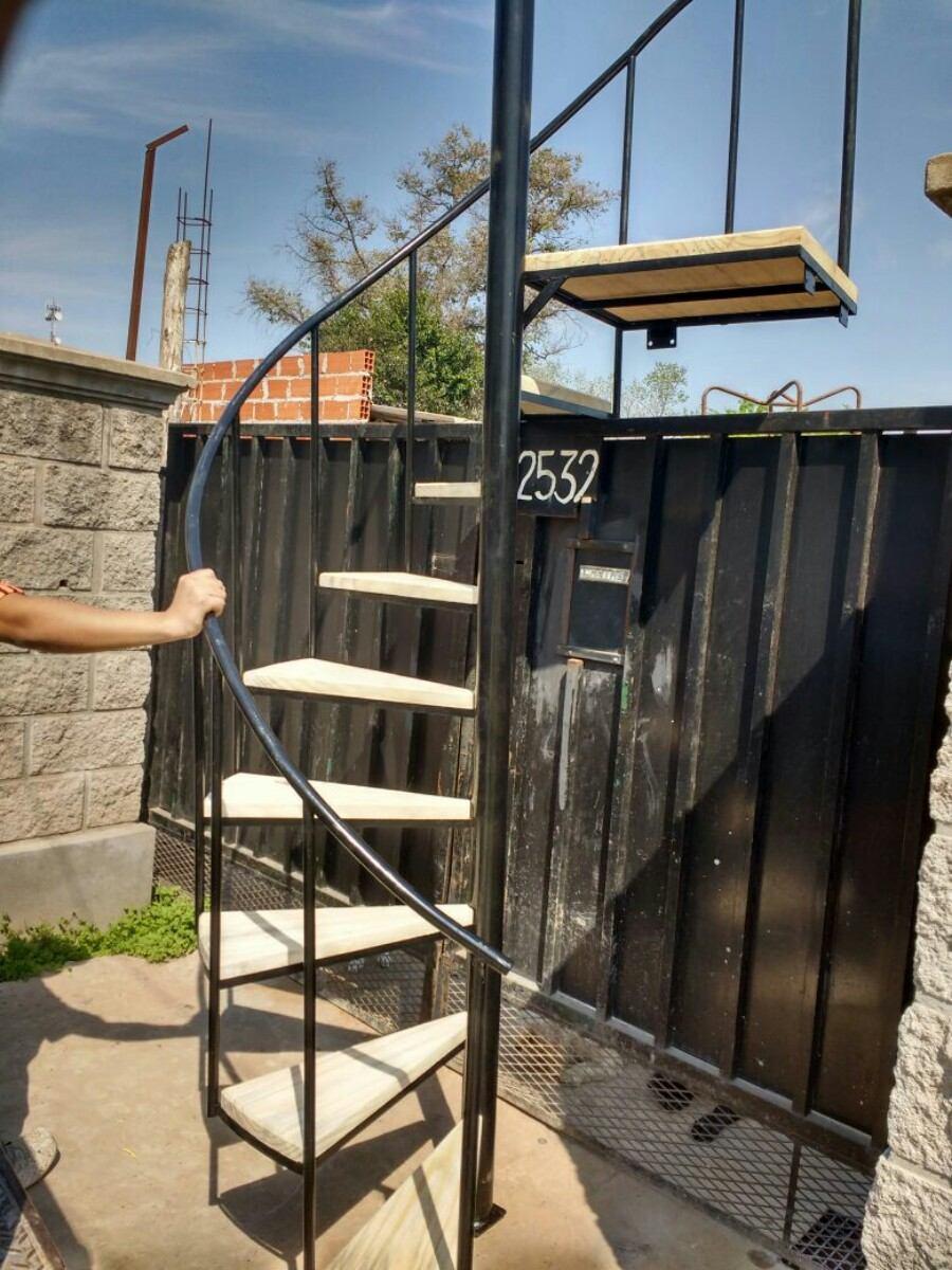 Escaleras semi caracol escalera vertical with escaleras for Como hacer una escalera caracol metalica