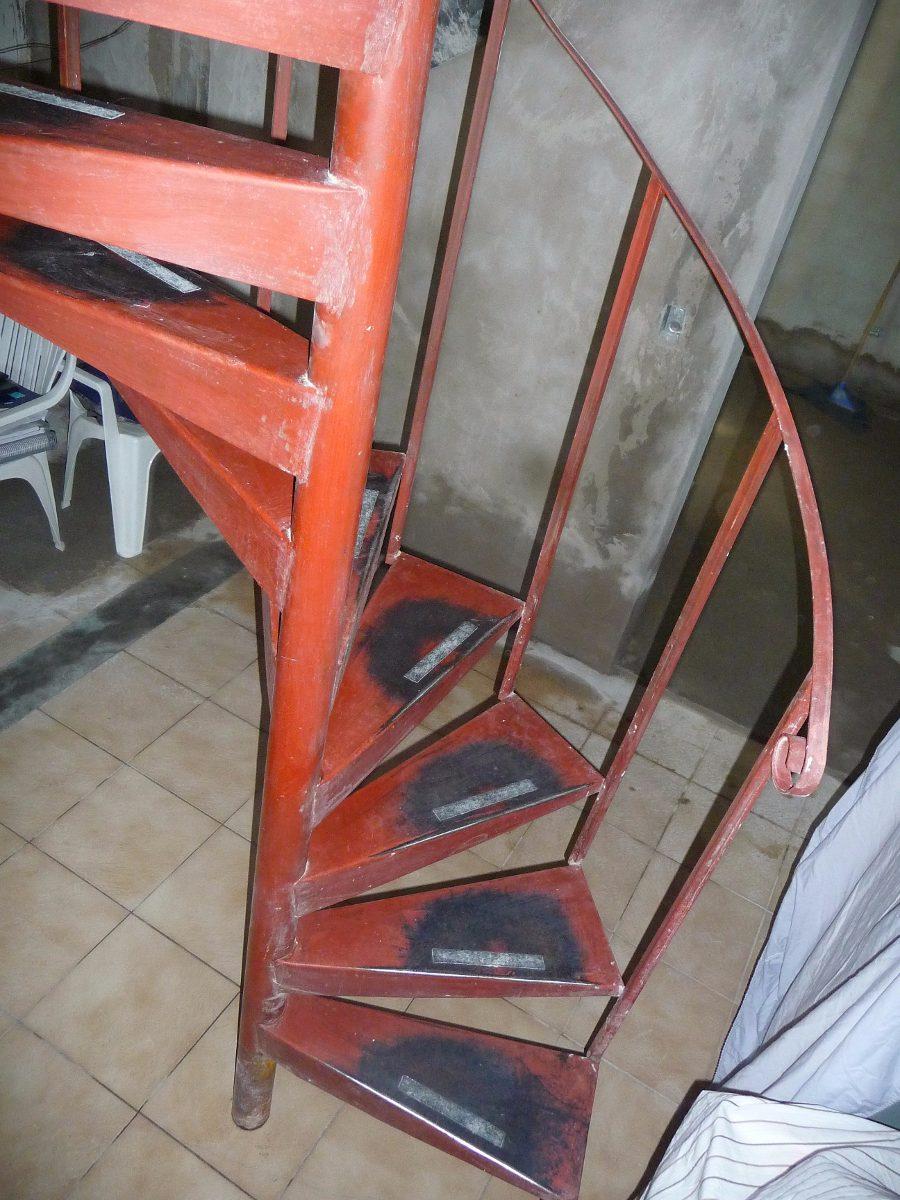 escalera caracol hierro escalones super oportunidad