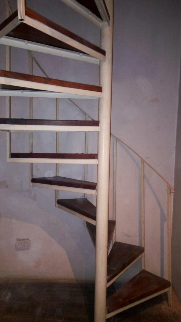 Escalera Caracol Hierro Madera 18 Escalones D 3.65 Mt Fuerte ...