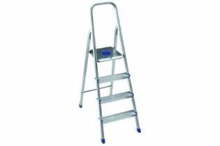 escalera de aluminio 4 escalones tipo familiar