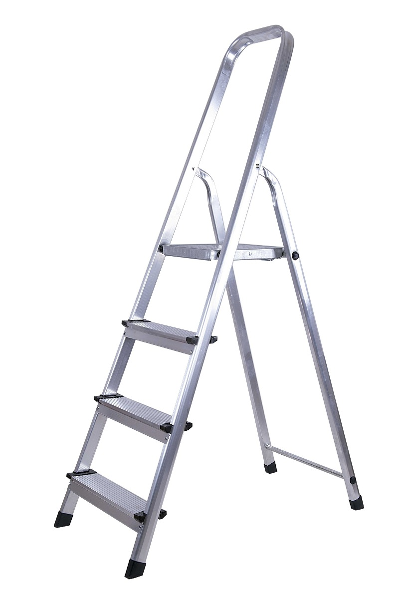Escalera de aluminio 4 escalones web brasilera tyt u s for Escaleras 7 peldanos precio