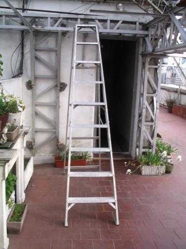escalera de aluminio 9 escalones (semi nueva)
