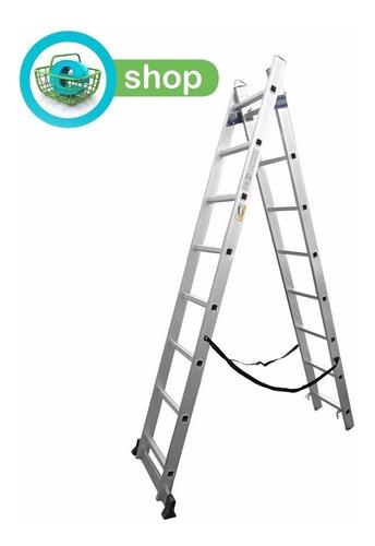 escalera de aluminio extensible 12 escalones panther pal812