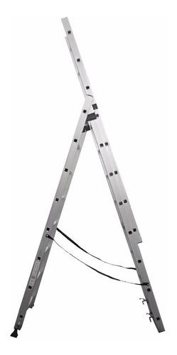 escalera de aluminio extensible 8 escalones panther pal608