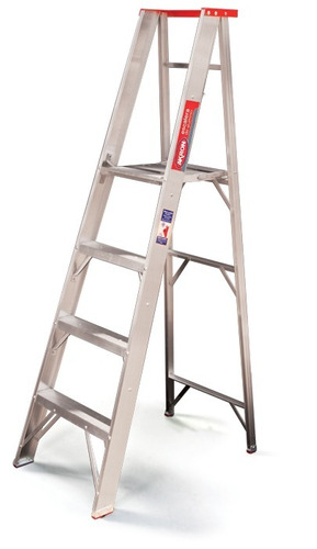 escalera de aluminio plataforma plegable akron 79-27