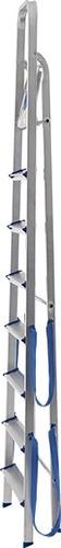 escalera de aluminio plegable 8 escalones norma iso super liviana