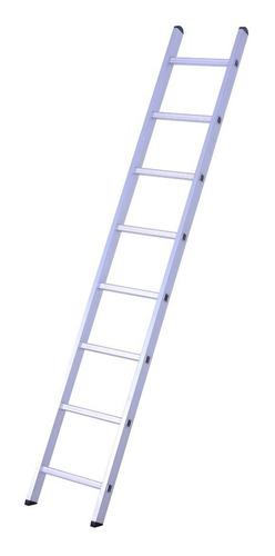 escalera de aluminio recta 8 peldaños proramp 150 kg