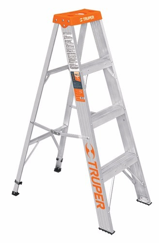 Escalera de aluminio tijera 3 escalones 102 kg truper for Escalera de aluminio de 3 metros