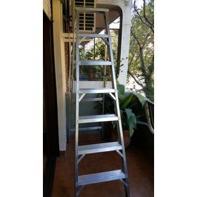 Escalera De Aluminio Tipo Tijera 7 Escalones