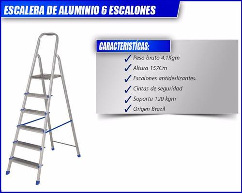 escalera de alumino articulada tijera 6 escalones oferta!