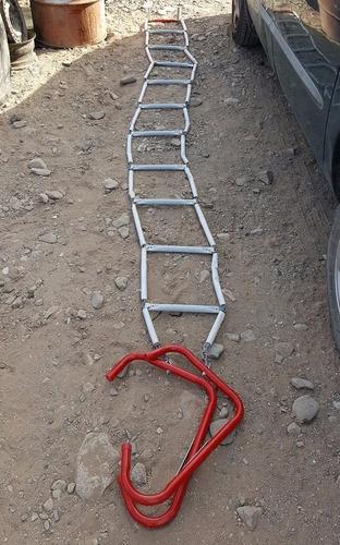 escalera de emergencia plegable de aluminio campismo 4.5 mts