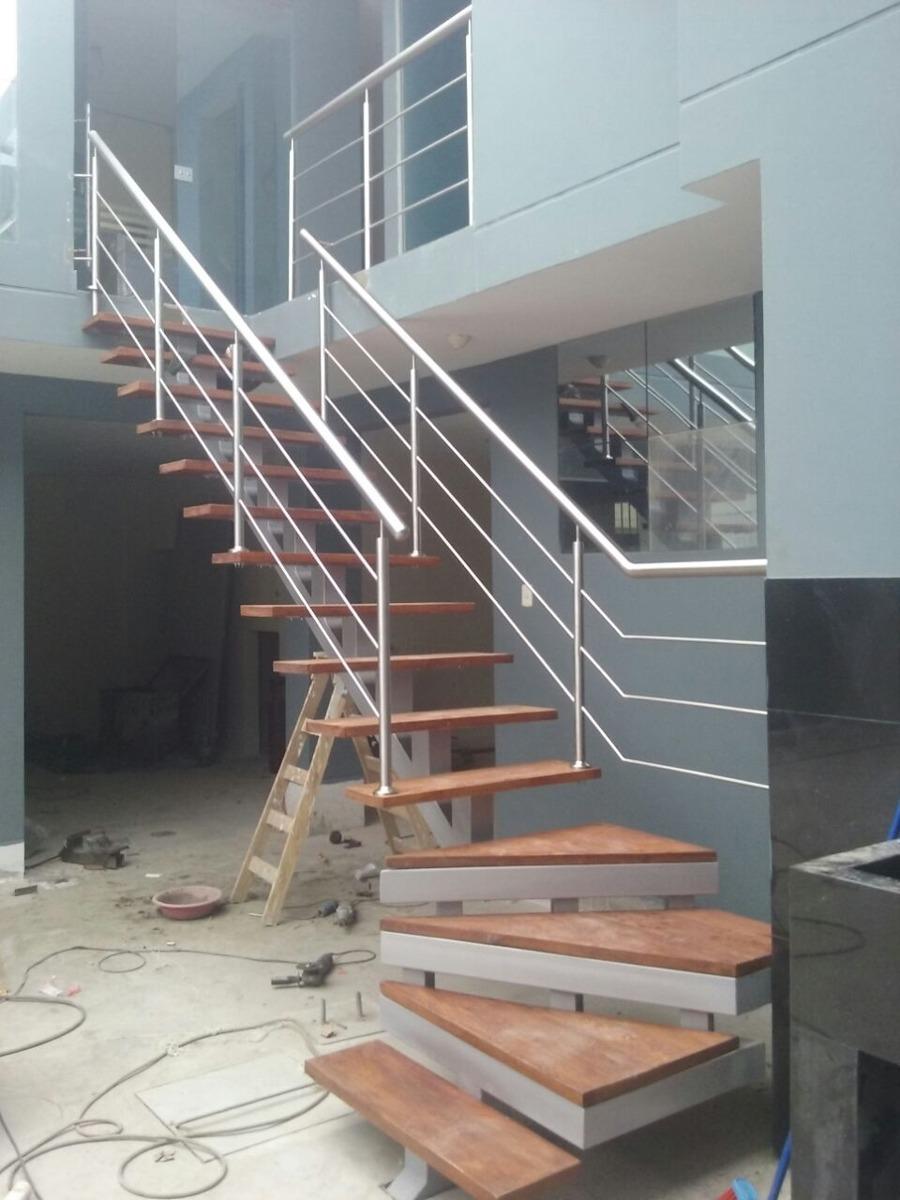 Escalera de fierro barandas s 200 00 en mercado libre - Baranda de escalera ...