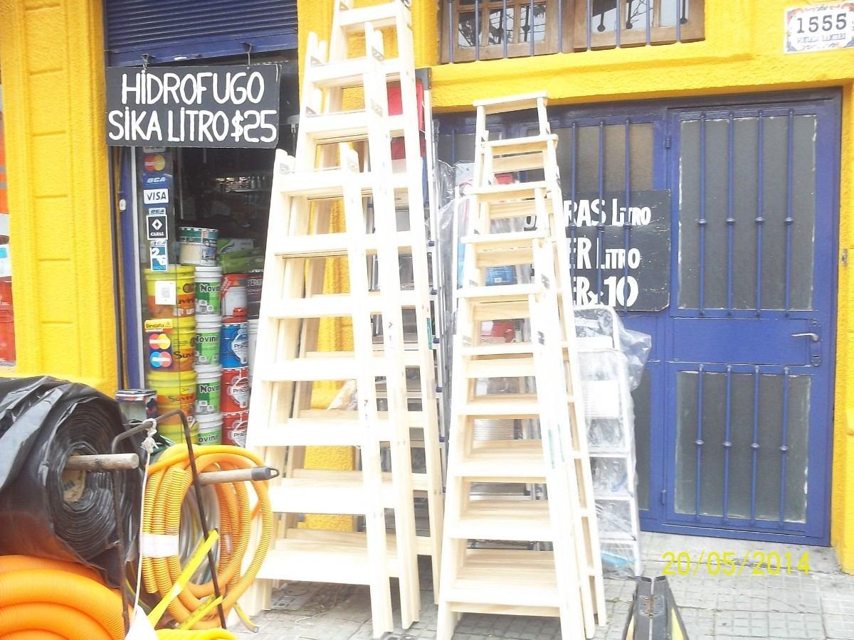 Escalera de madera de pintor 9 escalones altura for Escaleras pintor precios