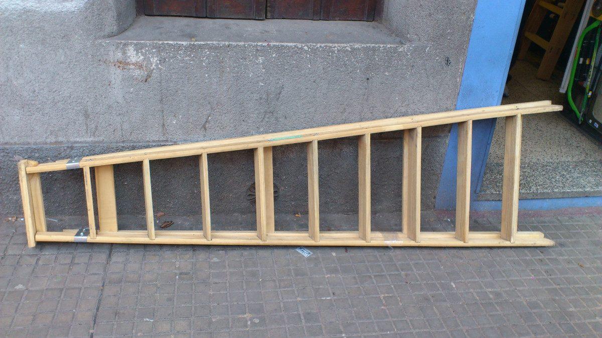 Escalera de madera familiares 10 escalones garantia nueva for Como hacer una escalera en l
