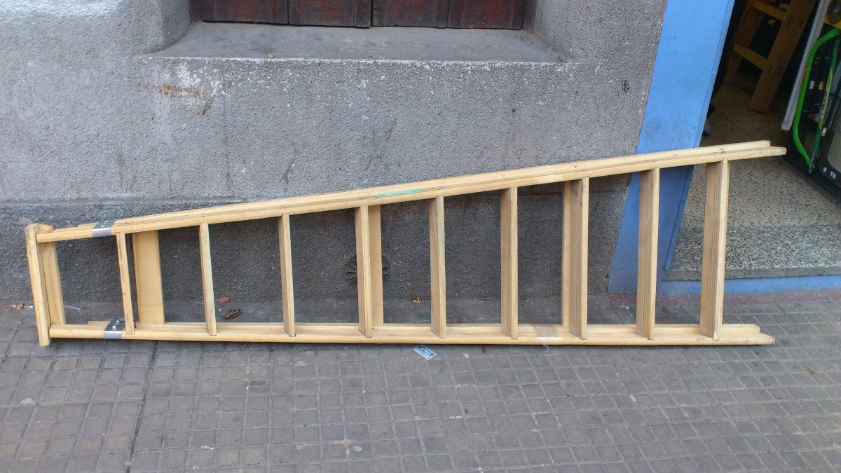 Escalera de madera familiares 6 escalones garantia nueva - Como hacer escalera ...