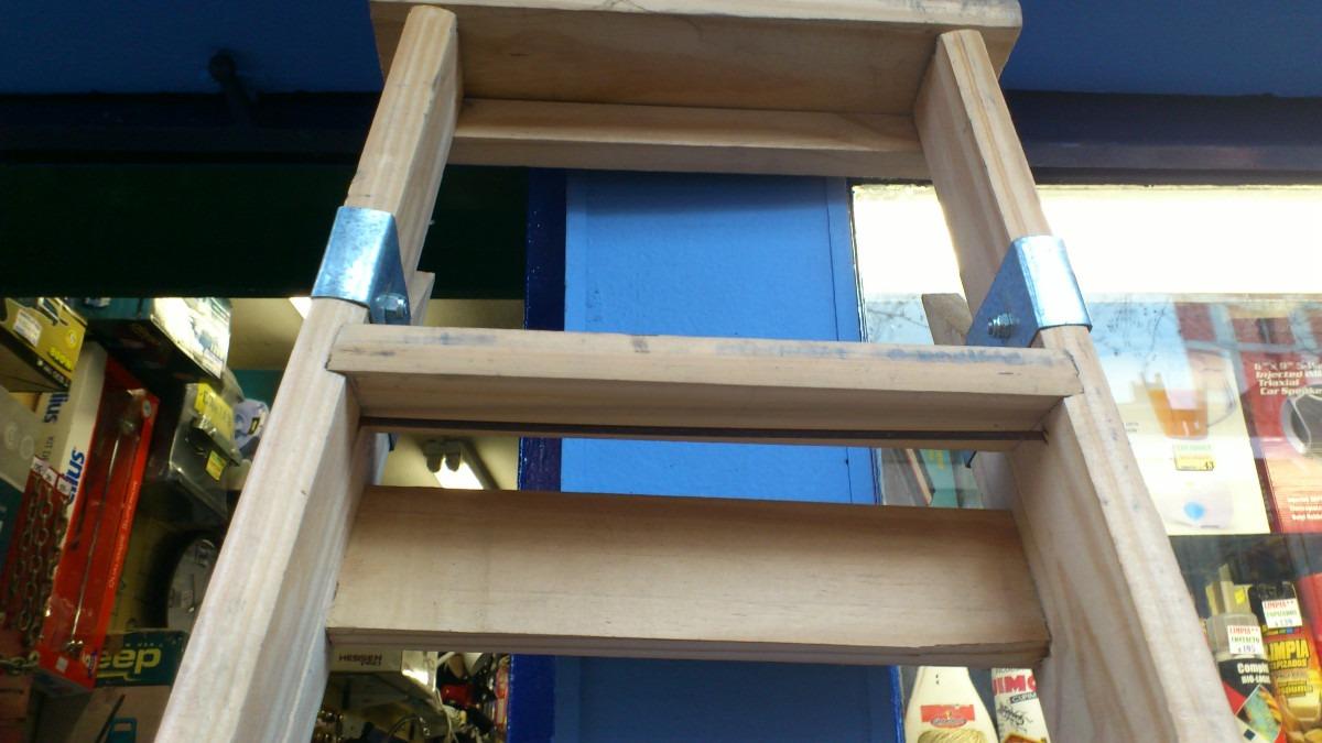 Escalera de madera familiares 6 escalones garantia nueva for Madera para hacer escaleras