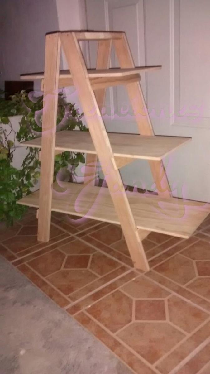 Escalera de madera mesa de dulces en mercado libre - Pintura base para madera ...