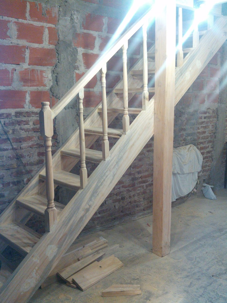Escalera de madera para altillo entrepiso en 12 cuotas en mercado libre - Escalera plegable para altillo ...