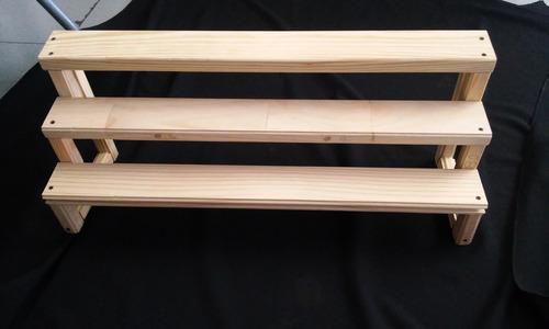 escalera de madera para  dulces