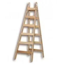 escalera de madera tipo pintor 8 escalones 2.4 metros