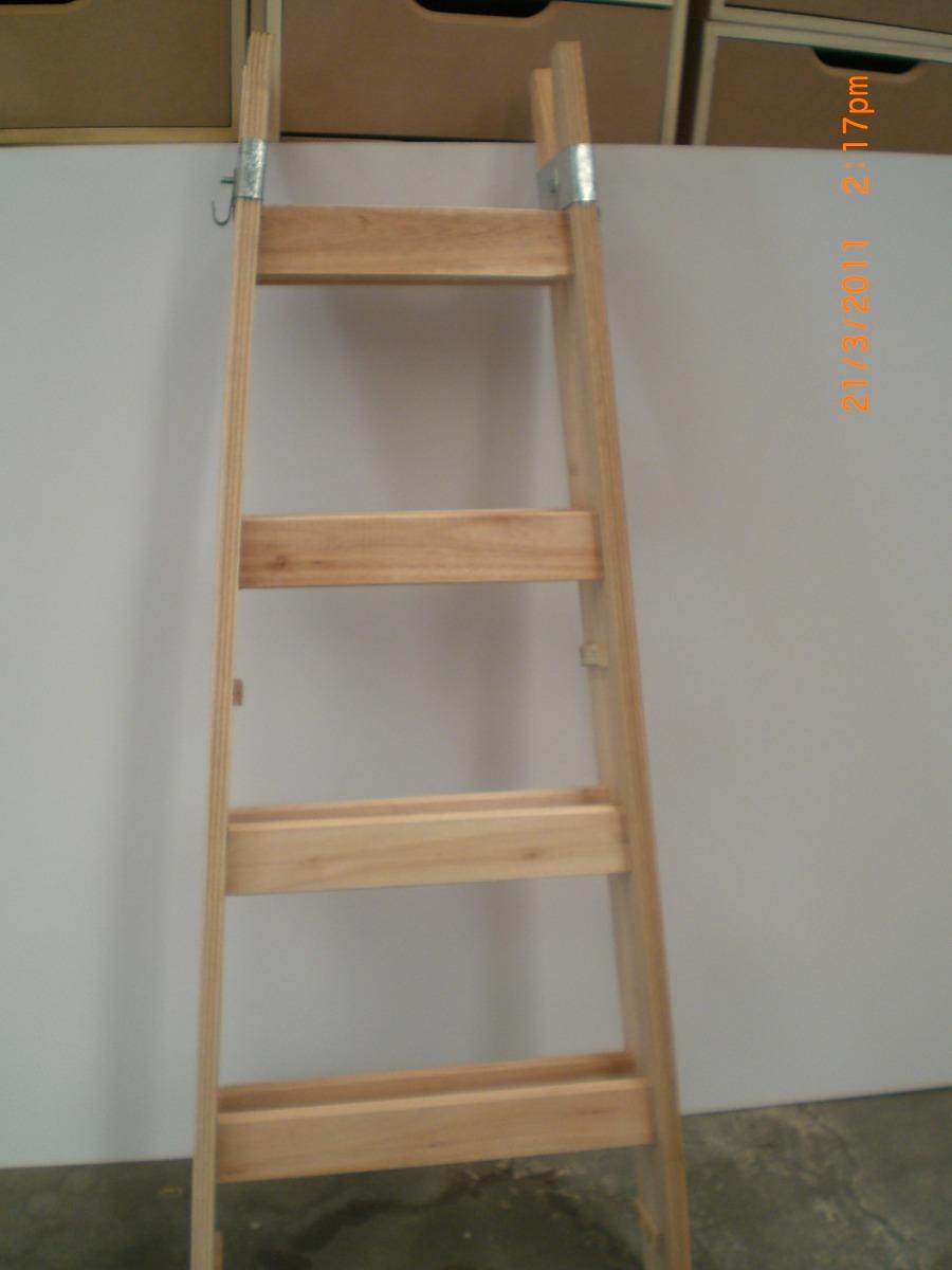 escalera de pintor reforzada madera escalones