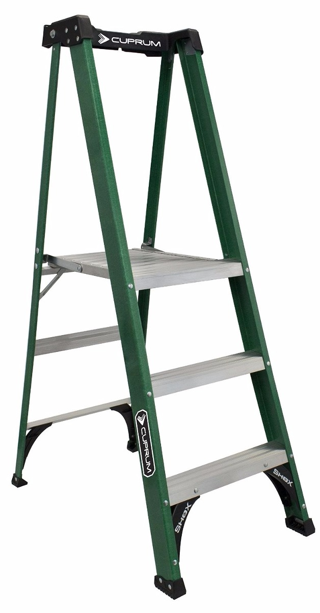 Escalera de plataforma profesional fibra de vidrio 1m - Escalera fibra de vidrio ...