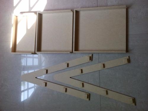 escalera decorativa, exhibidor para candy bar en mdf crudo