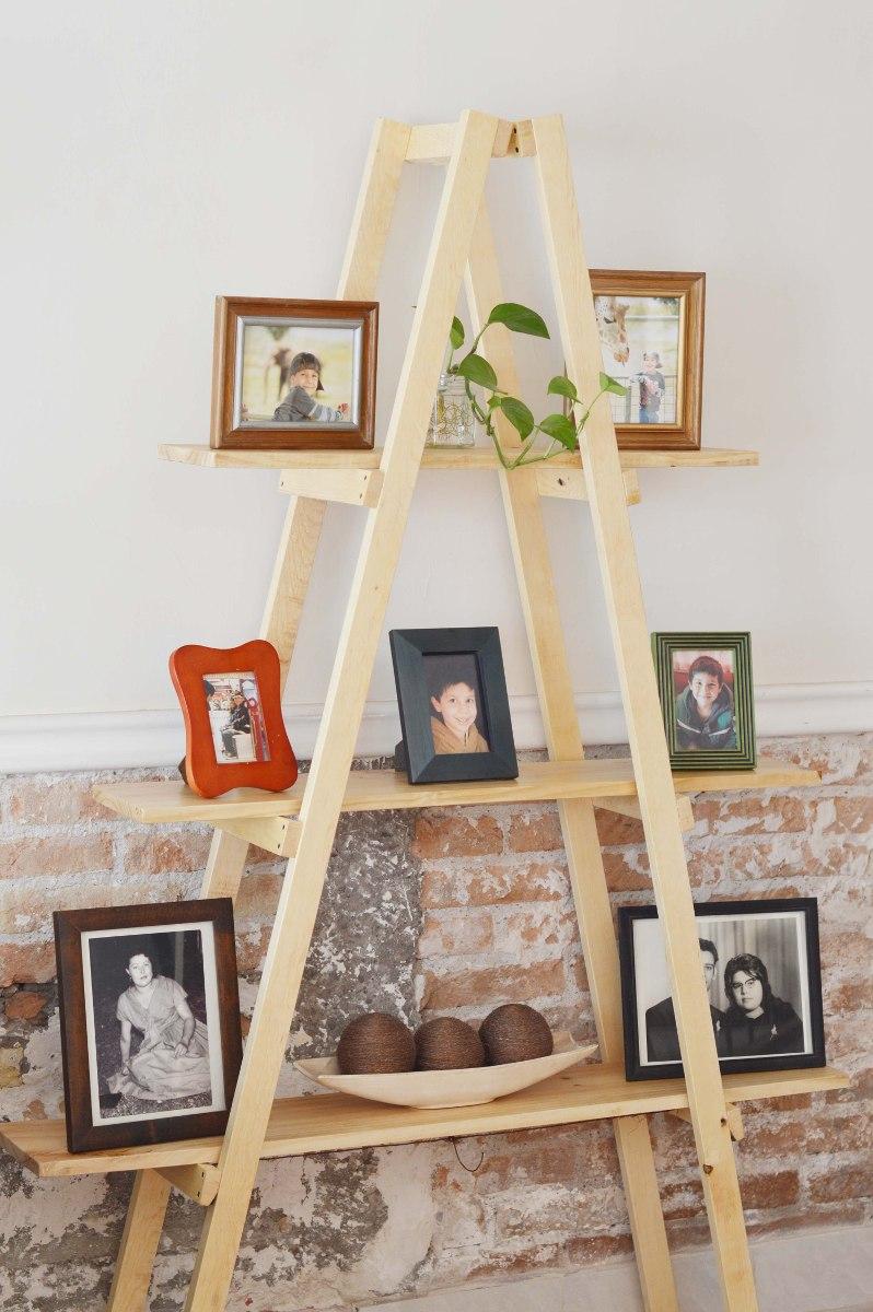 Escalera decorativa vintage mueble de repisas sala for Repisa escalera