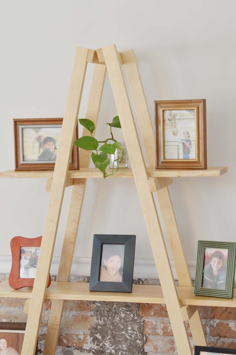 Escalera decorativa vintage mueble de repisas sala for Mueble de 5 repisas