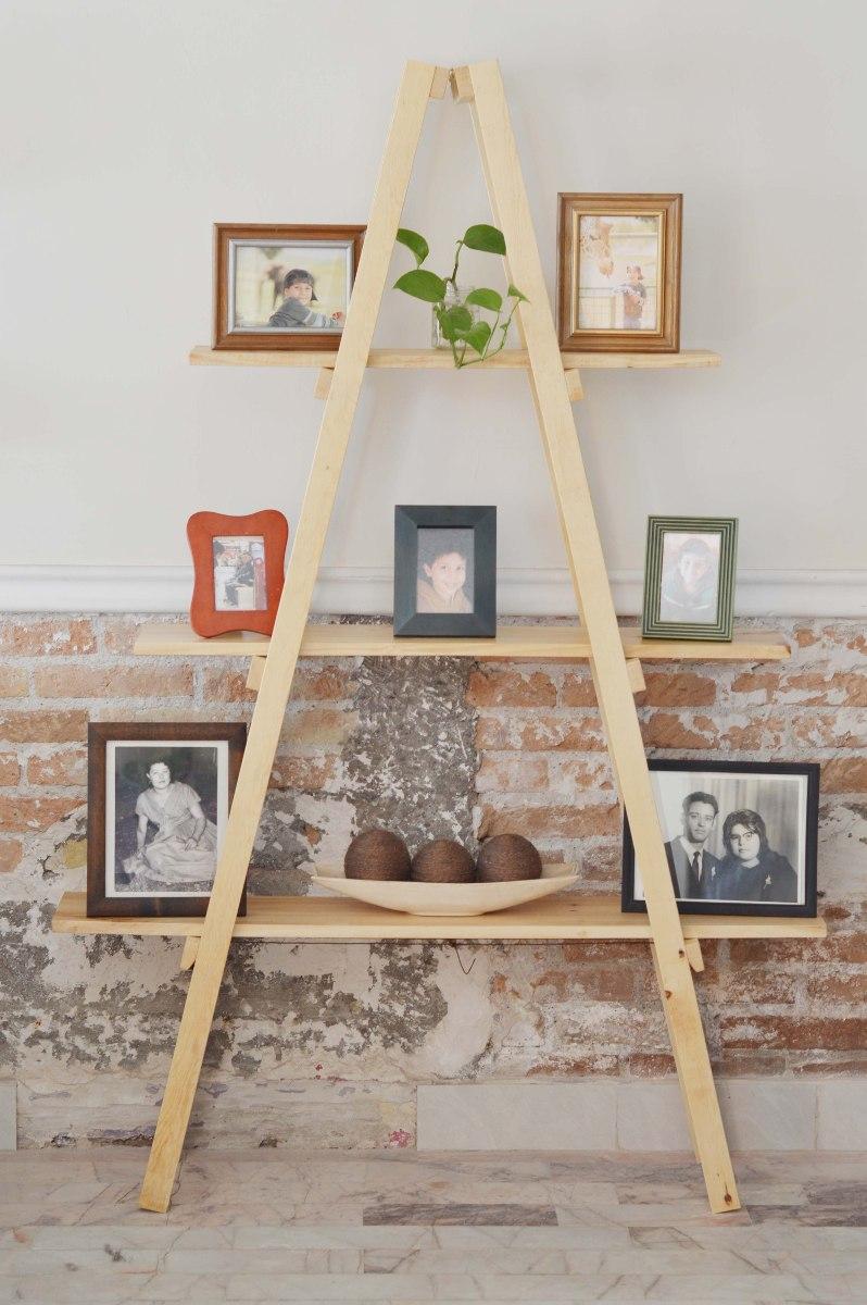 Escalera decorativa vintage mueble de repisas sala Escalera decorativa blanca