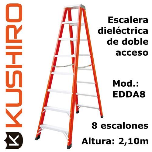escalera diélectrica kushiro acceso doble 8 escalones