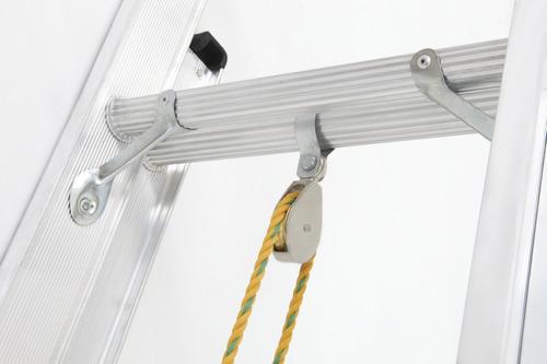 escalera extension aluminio 40 pasos / 12.0 mts 136 kg
