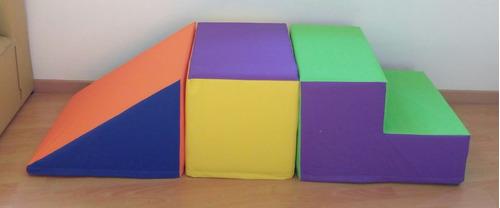 escalera goma espuma rampa prisma(3 piezas)set nº2 especial