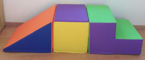 escalera goma espuma rampa prisma(3 pz) psicomotricidad 24kg