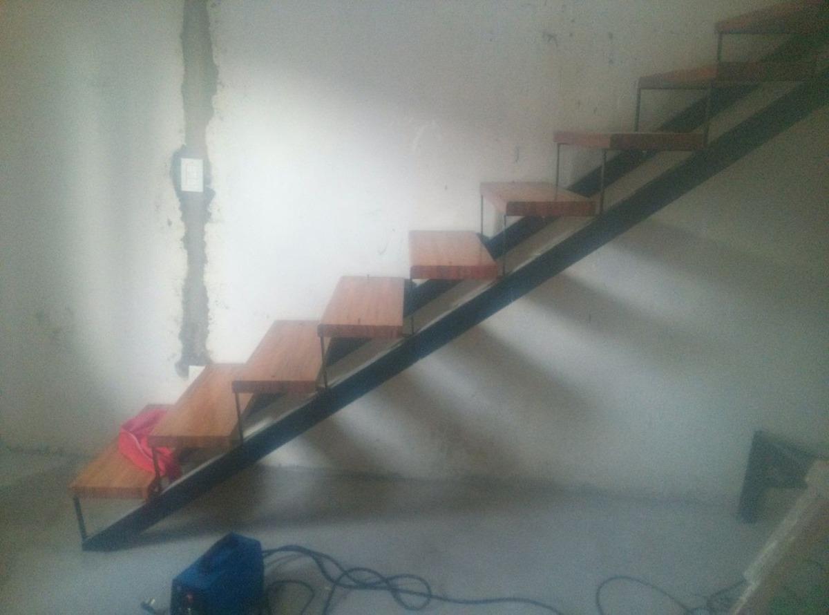 escalera hierro madera interior exterior