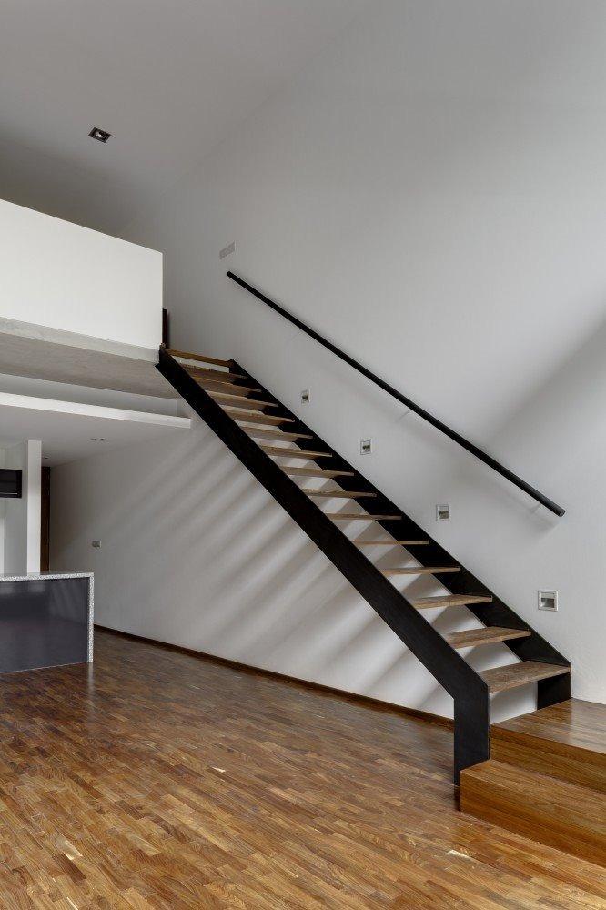 Escalera hierro chapa y madera interior y exterior - Imagenes de escaleras de interior ...