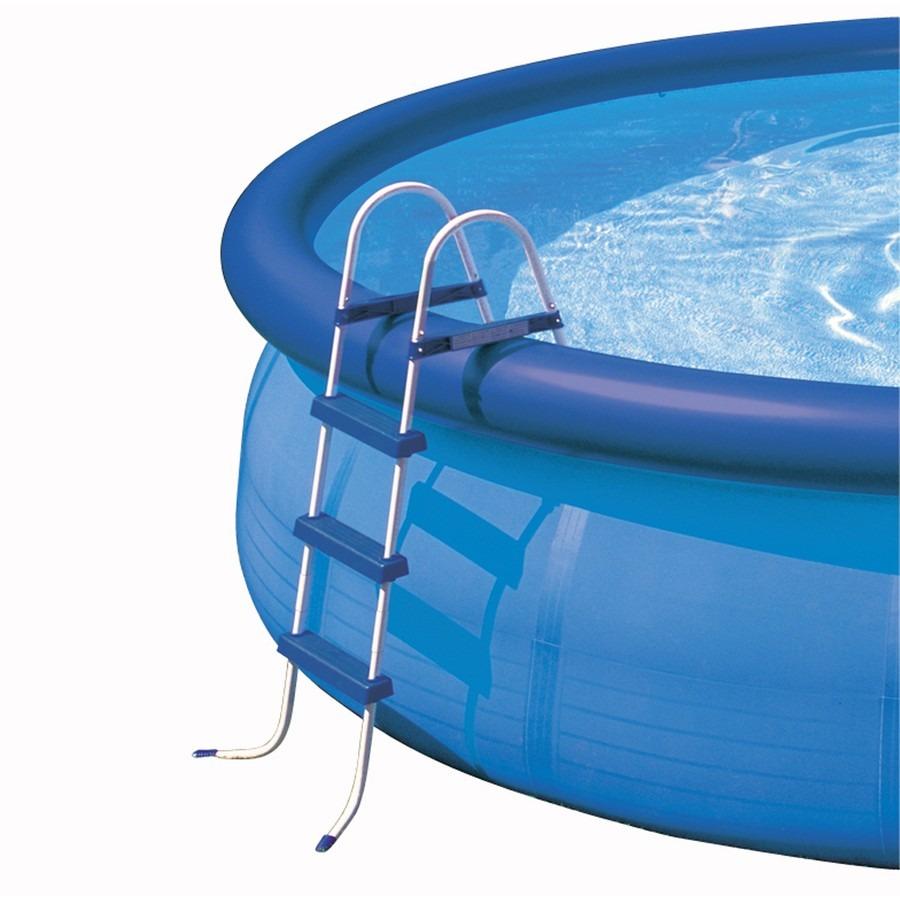 Escalera para piscina a mas for Precios de piletas inflables intex