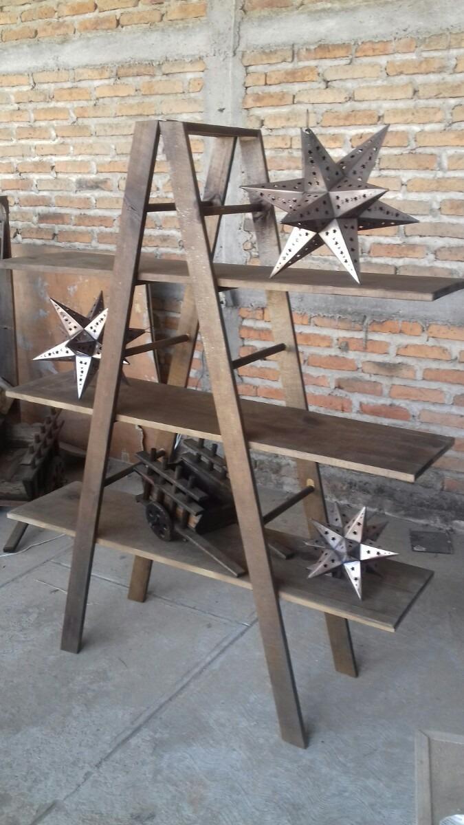 Escalera librero vintage 1 en mercado libre for Librero escalera