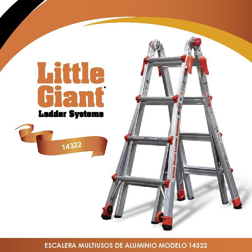 escalera lt multi m22 tipo 1a little giant 14322-001 + envío