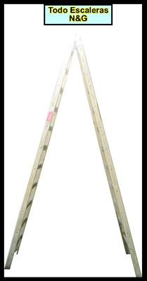 escalera madera reforzada 6 escalones planos tipo pintor