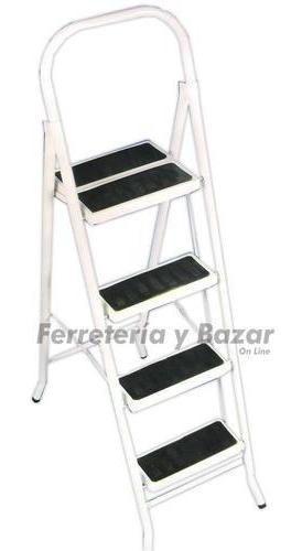 escalera metalica familiar plegable 4 escal platafor doble