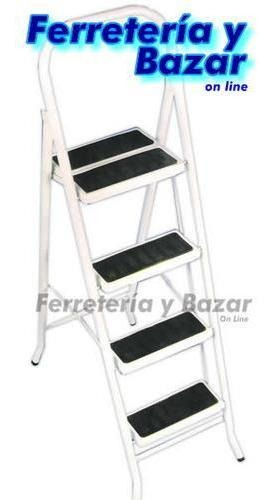 escalera metalica familiar plegable 5 escalon acero