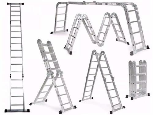 escalera  multifunción aluminio 3.5 m