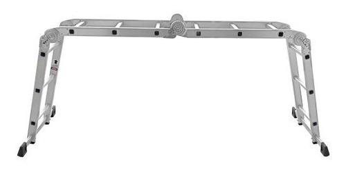 escalera multifuncion aluminio 4 x 4 articulada 16 escalones