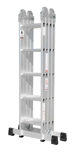 escalera multifuncion aluminio 4 x 5 articulada 20 escalones