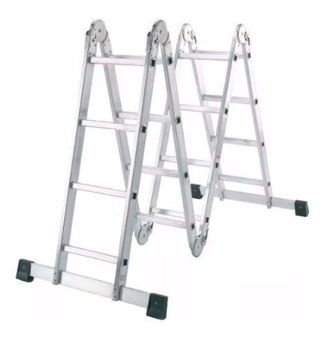 escalera multifuncion aluminio pleglable 4,70m kulbart 4x4 c