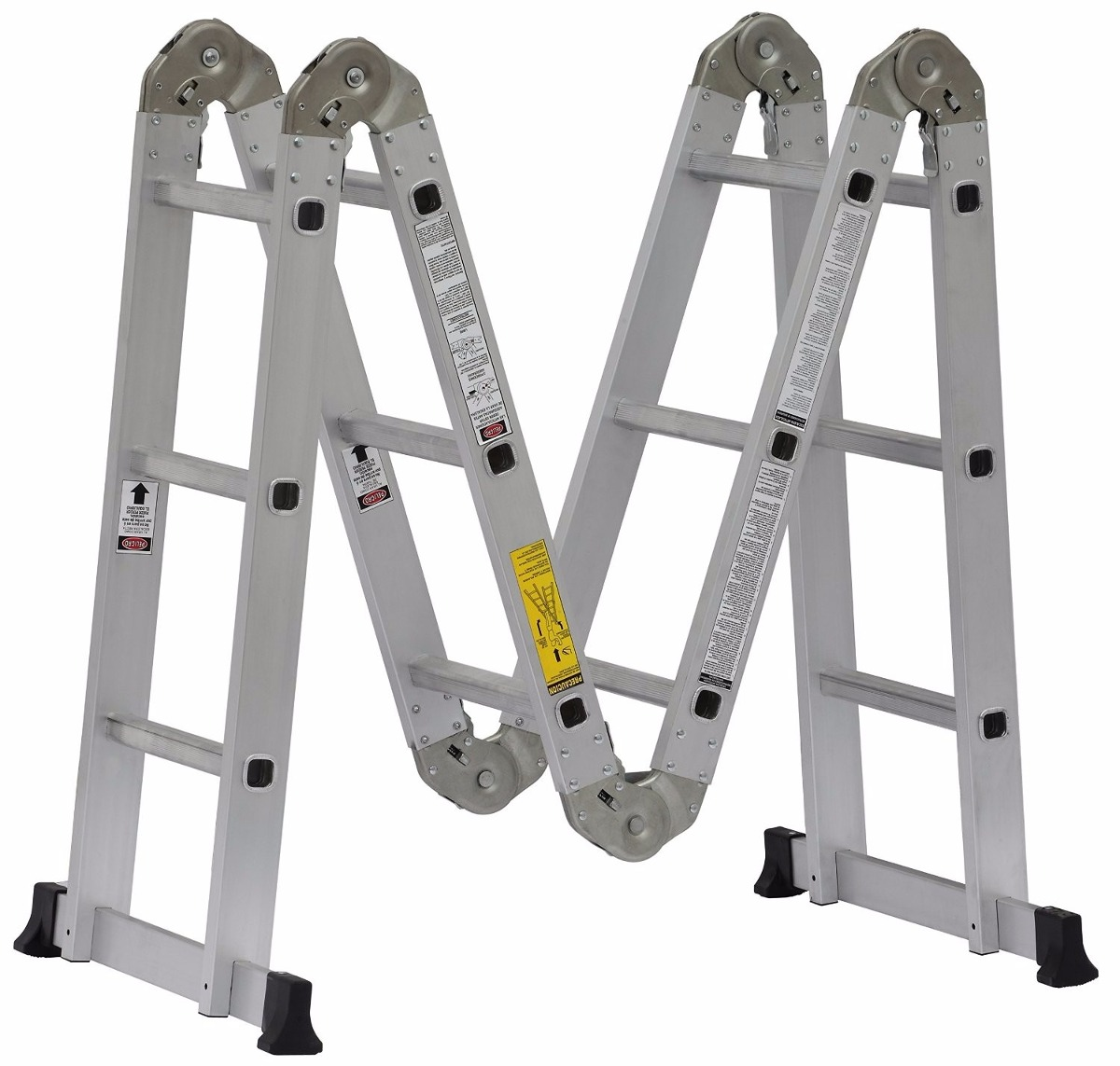 Escalera multiposiciones de aluminio cuprum 150kg 4 metros for Escalera de aluminio de 8 metros