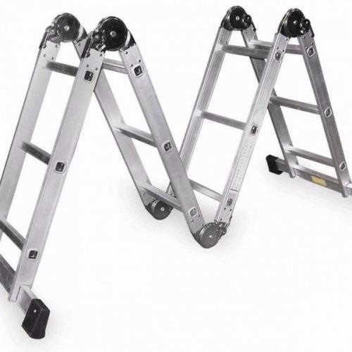 escalera multiproposito 12 pasos  en aluminio 3.6mt