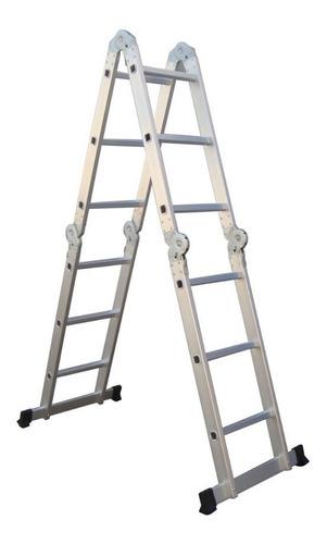 escalera multiproposito 12 pasos en aluminio